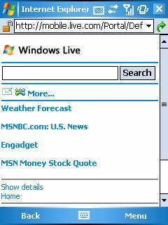 Microsoft Live Search presenta mejoras para Blackberry y Windows Mobile