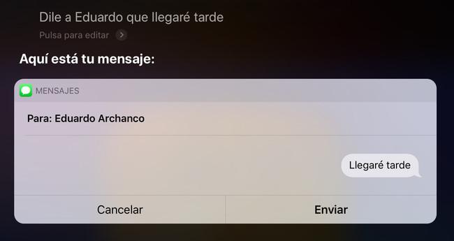 Siri Mensaje Ios