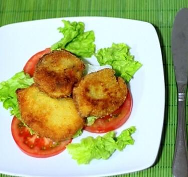 Medallones de pechugas Villeroy al curry ideales para el aperitivo