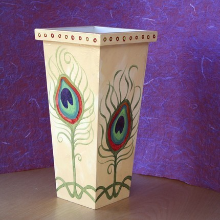peacock feather vase etsy blanco