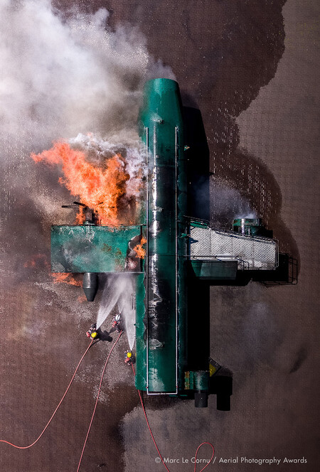 Fire Attack Marc Le Cornu Aerial Photography Awards