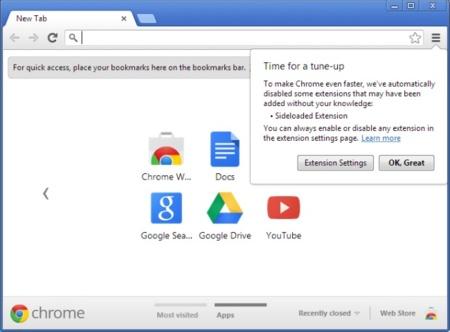 Chrome llega a la versión 25 con una API de reconocimiento de voz y la desinstalación de complementos fantasma