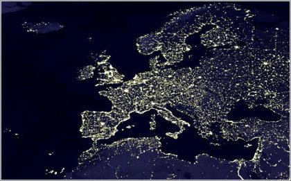 El turismo europeo visto de noche desde el satélite