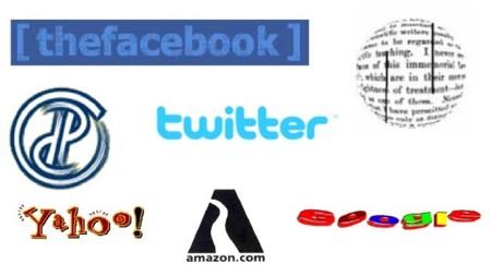 Los logos de las principales compañías de Internet: antes y ahora