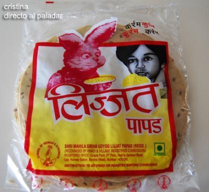 Paquete de papadum