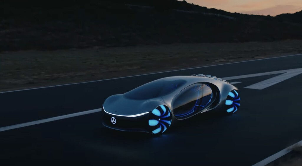 Mercedes-Benz exhibe en cinta y funcionando Vision AVTR, su concepto de vehículo eléctrico mas alucinante de todos