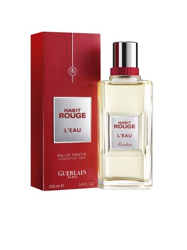 Habit Rouge L'Eau, nueva fragancia masculina de Guerlain para febrero