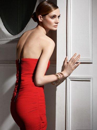 sfera vestido rojo