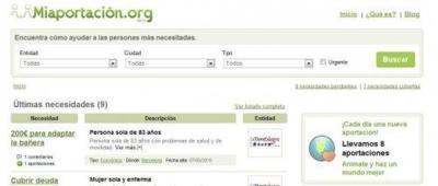 Miaportacion.org, ayuda a personas con necesidades reales