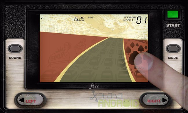 Flee: Efecto al pulsar en la pantalla del juego