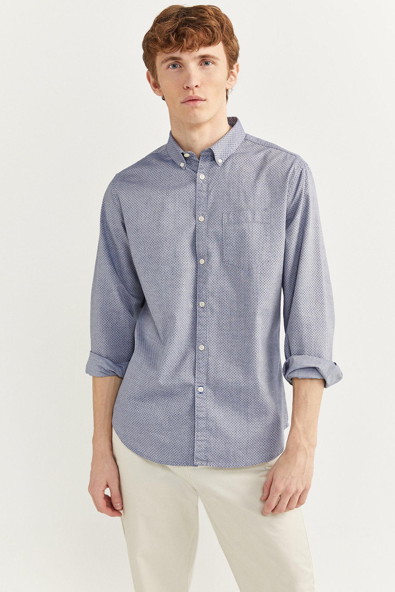 Camisa con estampado de lunares
