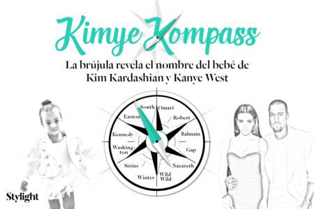 Kimye Kompass Revela Nombre Bebe Kardashian Stylight
