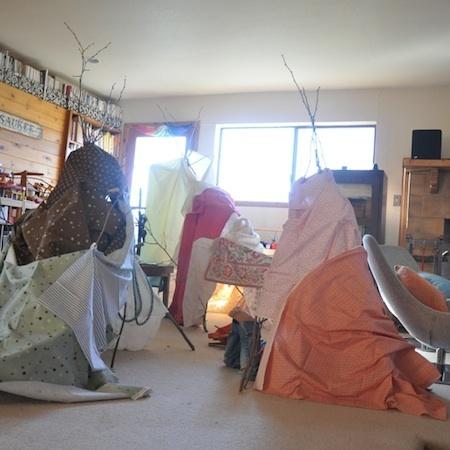 camping interior niños