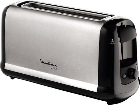 Por sólo 25 euros tenemos la tostadora de ranura larga Moulinex Subito LS260800 en Amazon