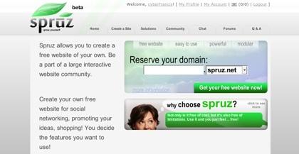Spruz, creando diferentes tipos de sitios web en minutos de forma guiada