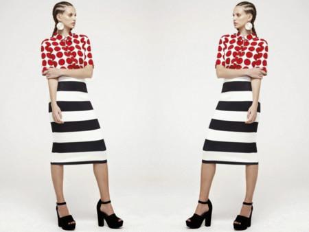 Clon Burberry Primavera-Verano 2014 camisa topos falda rayas Primark catálogo