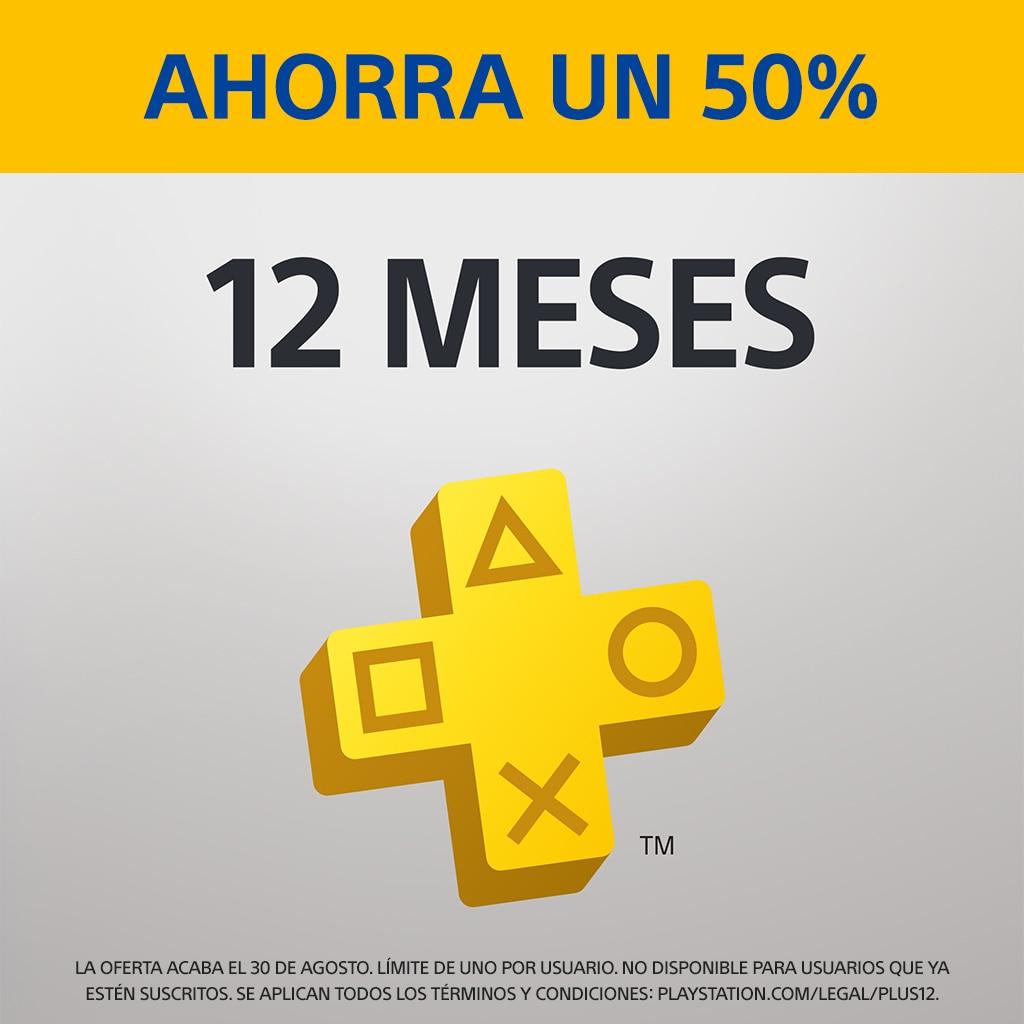 PlayStation Plus: suscripción de 12 meses año con un 50% de descuento