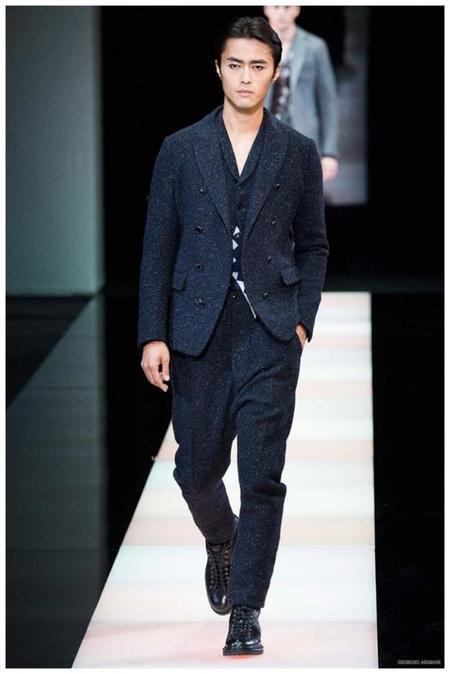 Giorgio Armani Menswear Fall Winter 2015 Collection Milan Fashion Week 005