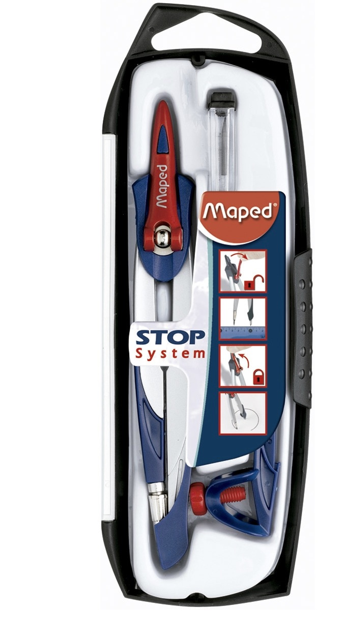 MAPED  Compás Stop System Maped gris