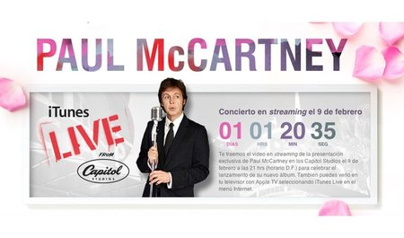 Paul McCartney dará concierto gratuito por iTunes y Apple TV
