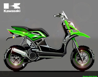 Kawasaki entrará en el mercado de los scooter de 50 cc