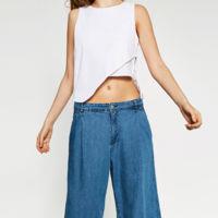 Pantalones culotte denim