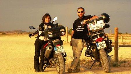 Alicia Sornosa busca ser la primera mujer española en dar la vuelta al mundo en moto