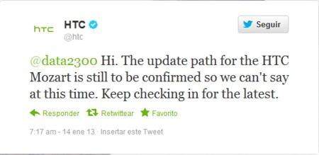 HTC en Twitter sobre Mozart