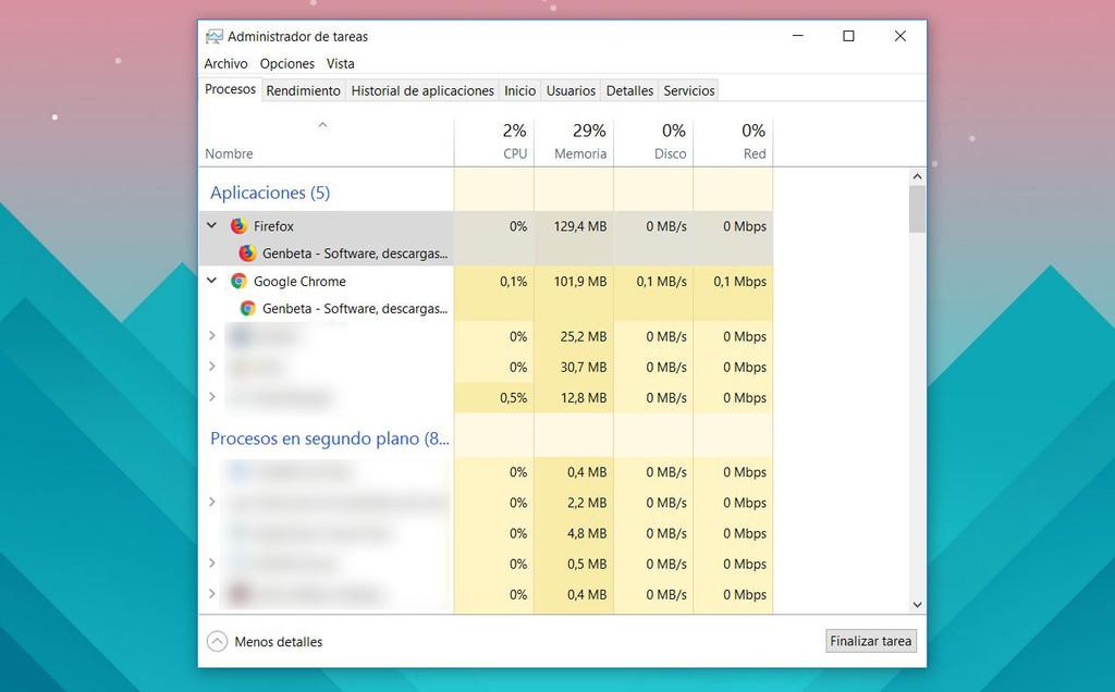 Firefox Quantum Analisis Memoria Ram