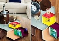 Un toque de alegría con bandejas geométricas de colores diversos