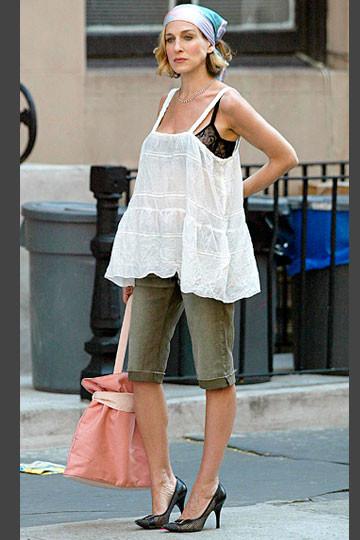 Carrie con sujetador visto