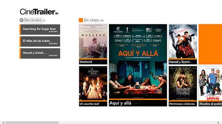 CineTrailer.Tv, Menú principal