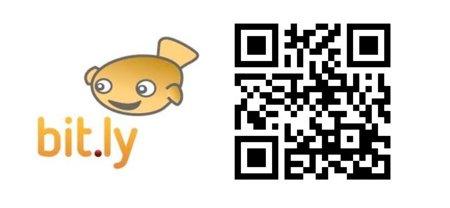Las URL cortas de bit.ly también pueden mostrarse como códigos QR