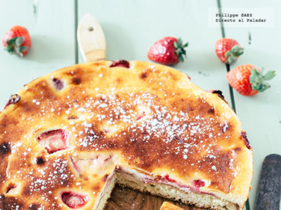 Pastel de queso y fresas. Receta