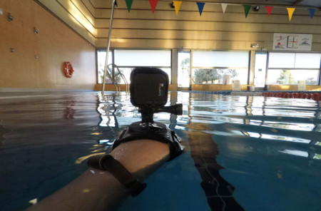 GoPro Hero5 Black en la piscina