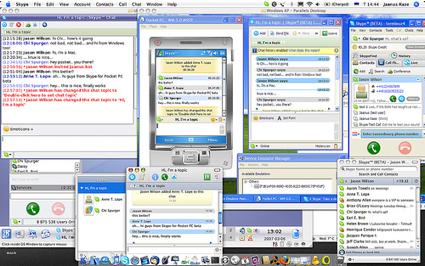 Skype en cuatro sistemas operativos a la vez