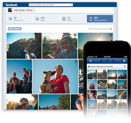 facebook photo sync fotografías