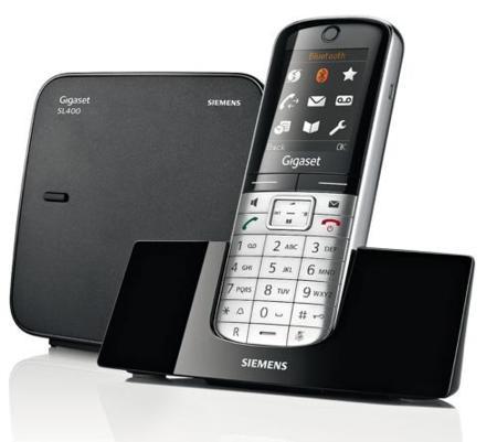 El Siemens Gigaset SL400 demuestra que los teléfonos fijos pueden interesar