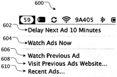 Apple patenta un sistema para integrar anuncios en el sistema operativo