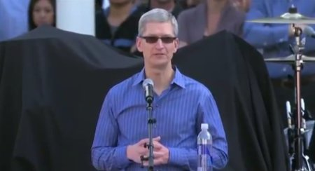 tim cook evento apple california cupertino steve jobs celebrating
