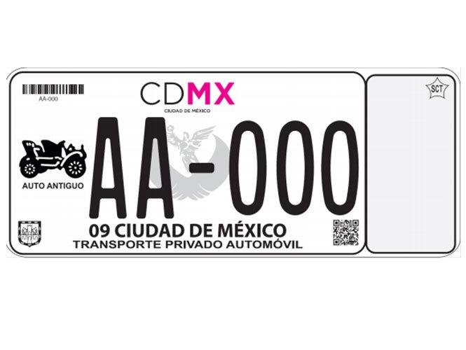 Foto de Nuevas placas CDMX (1/9)