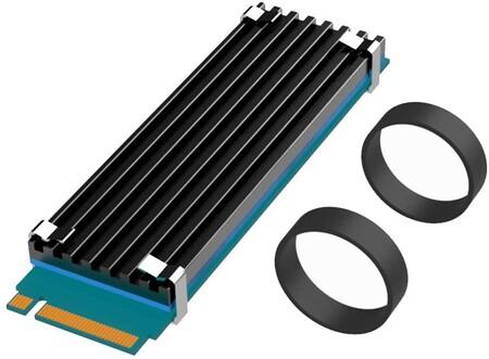 Glotrends Disipador M 2 Termico Disipador Termico Nvme Para M 2 2280 Ssd 22x70x3mm Cuerpo De Aluminio