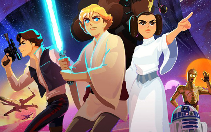 Trailer for 'Star Wars Galaxy of Adventures', an educational series with which to introduce the little ones in the saga galactic