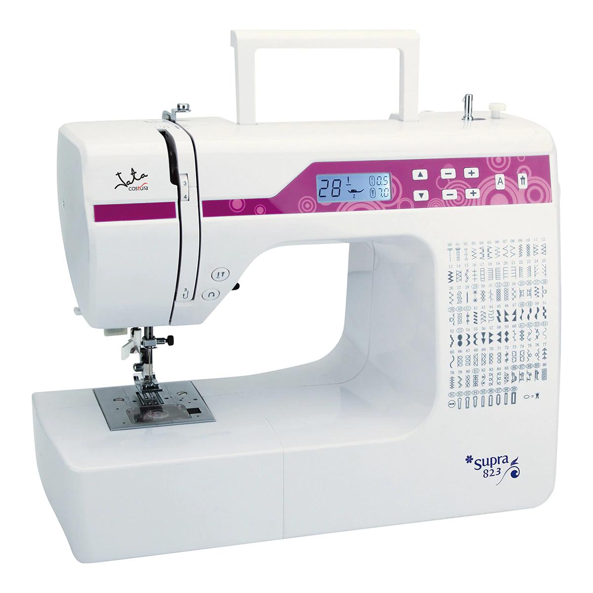 Máquina de coser Jata MC823 con control de funciones electrónico.