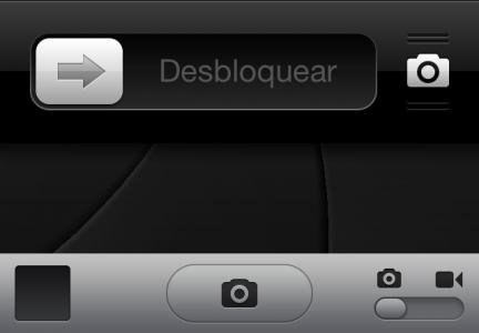 iOS 5.1 - acceso rápido a la cámara desde la pantalla bloqueada