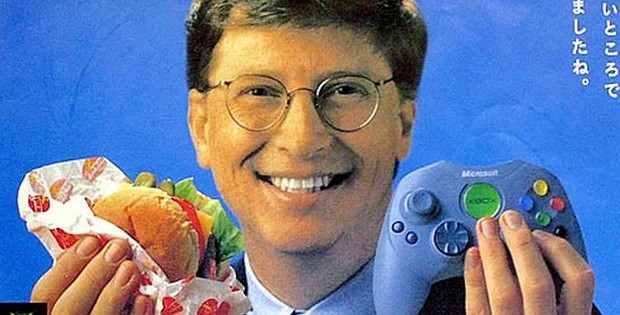 Xbox One Japan Bill Gates Burger