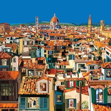 Así es como un ilustrador italiano nos acerca la cuarentena de diferentes ciudades de todo el mundo y sin movernos de casa