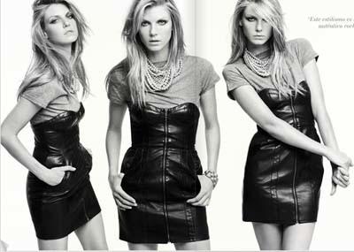 H&M vestido cuero
