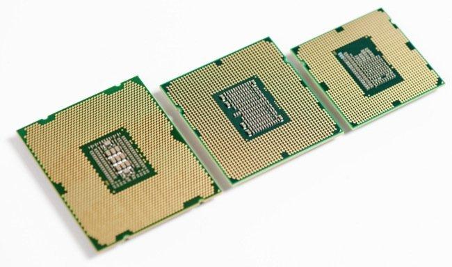 Intel Sandy Bridge E, Gulftown, Sandy Bridge size comparison