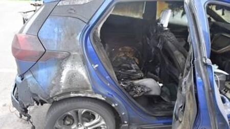 Chevrolet Bolt incendiado